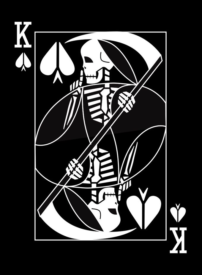 Apocalyptic Suits playing cards for the End of the World - Kickstarter. King of Death (work in progress) - card game, card games, poker playing cards, deck of cards, card deck, unique playing cards, art of play cards, design play cards, cool playing cards, cardistry, jugando a las cartas, karty do gry, игральные карты, карты