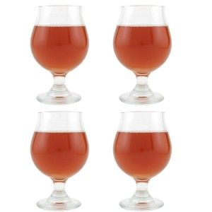 """Set of 4 Belgian Beer Glasses from Libbey. 16 oz. Rounded Bowl... """"allows for subtle warming of the beer via heat transfer from the hand."""" 3/23/15 8:37 PM Central: This highly rated set of four g..."""
