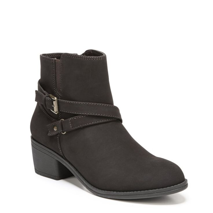 Lifestride Women's Ionic Medium/Wide Booties (Dark Brown)