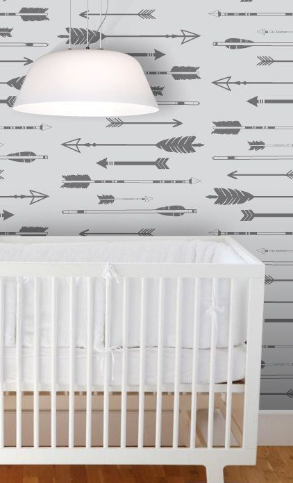 Removable Wallpaper L And Stick Arrow Kids Nursery Self Adhesive Home Decor
