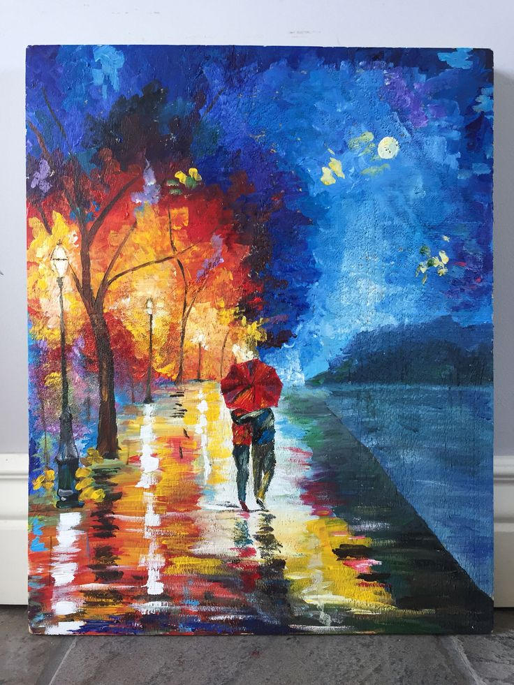 A personal favorite from my Etsy shop https://www.etsy.com/ca/listing/570994459/colourful-walk-in-the-park
