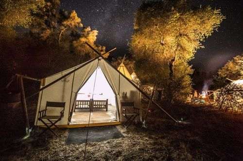 Camping tents by Under Canvas Events Tent Rental Company look so fun. I can just imagine sleeping under the stars camping in one of these tents. Photo CreditIan Norman