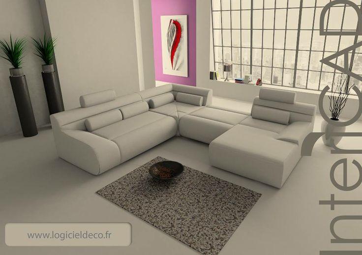 Rendu 3D réalisé avec InteriCAD Lite  www.logicieldeco.fr