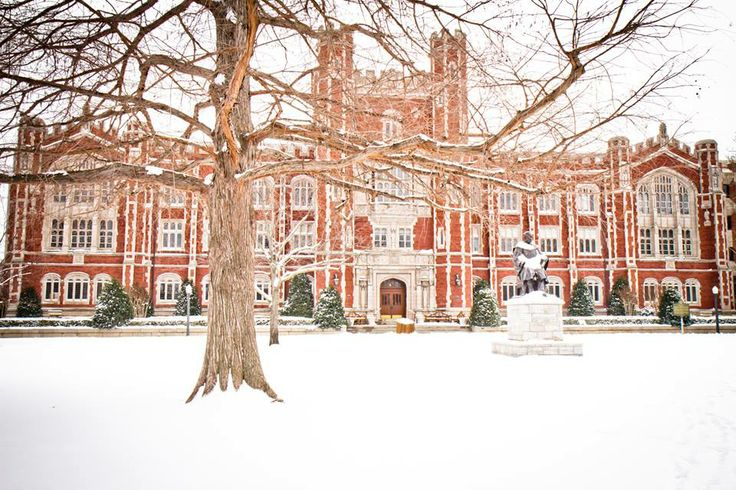 Campus in the snow = GORGEOUS!