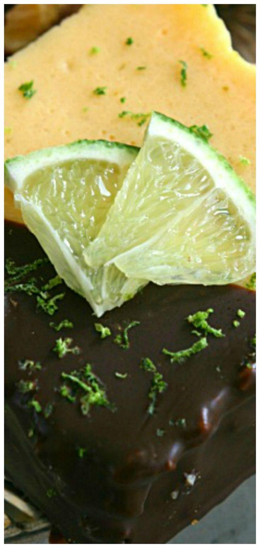 Chocolate Dipped Key Lime Pie Bars Recipe