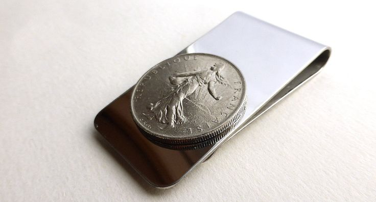 Coin money clip, French, The Sower, La Semeuse, Oscar Roty, Money, Men's accessory, Men's gifts, Money clip, Men's wallet, Gifts for him by CoinStories on Etsy