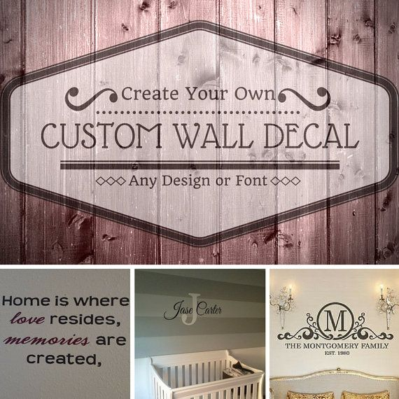 custom wall decalwall artwall muralcreate your own decallarge - Design Your Own Wall Art Stickers