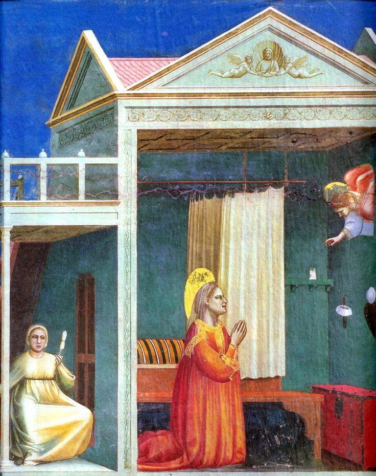 Giotto, Annunciation, 14th c. Pinterest Renaissance