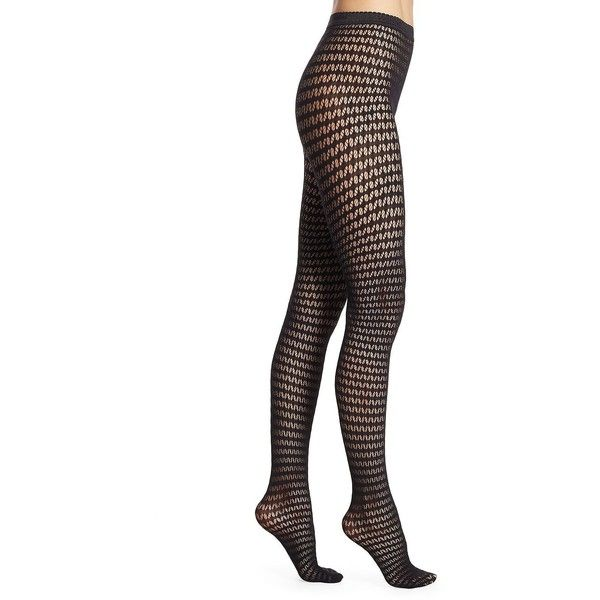 Wolford Mesh Tights (87 CAD) ❤ liked on Polyvore featuring intimates, hosiery, tights, wolford stockings, lingerie pantyhose, wolford, mesh stockings and wolford hosiery