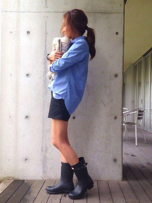 Happyな雨の日を過ごすための、オシャレレインブーツ♡「Hunter / ハンター」コーディネート集 - Yahoo! BEAUTY