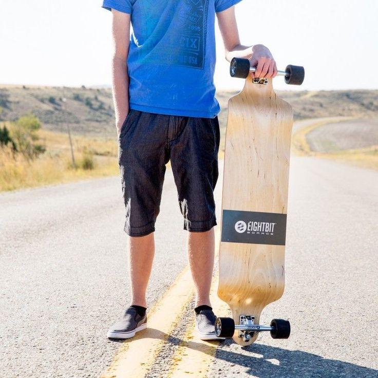 Drop Deck Longboard 41 Inch Eightbit Skateboard Maple Complete Down Downhill New