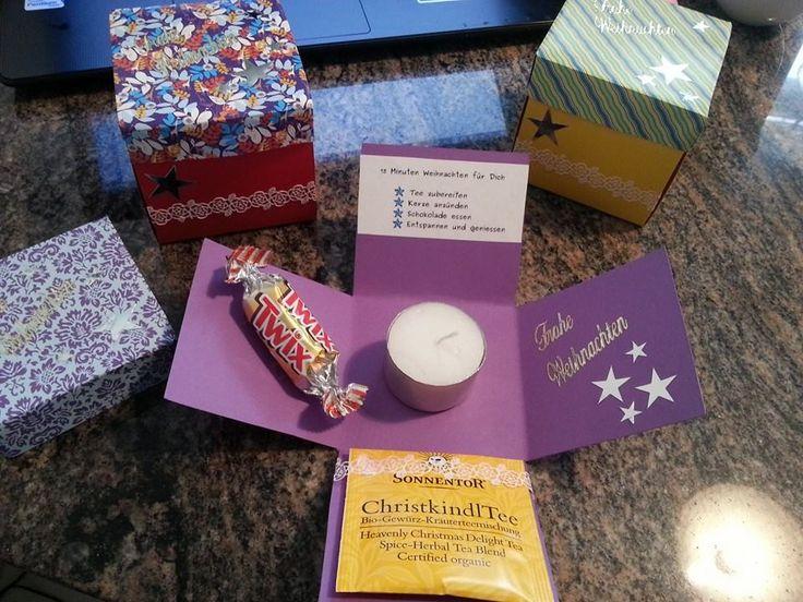 15 Minuten Weihnachten für dich (Teelicht-Schächtelchen)