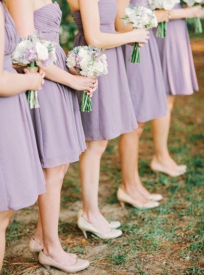 pale purple bridesmaid dresses | Amy Arrington #wedding