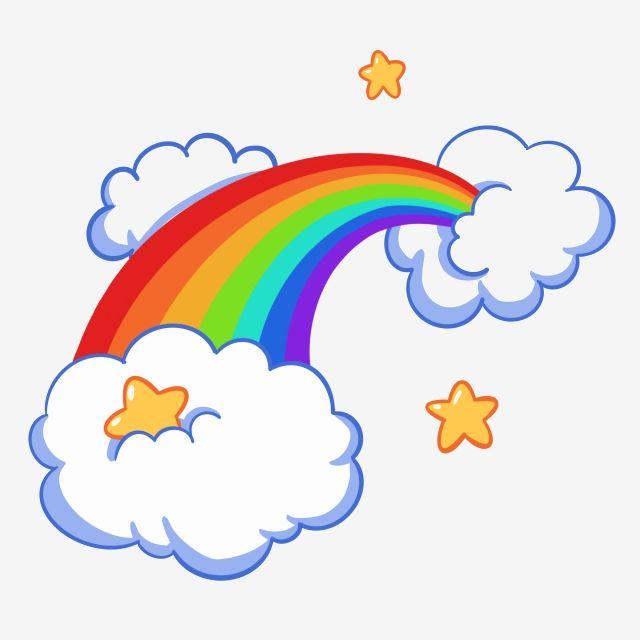 Cartoon Rainbow Cloud Advertising Design Cartoon Png Transparent