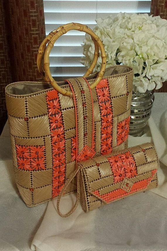 Maneras de coral un Original bolso de Helena por HelenaSassyBags                                                                                                                                                                                 Más