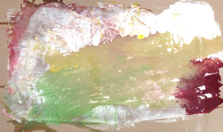 Topography, plaster variation 2, 200x100cm, plaster with acrylic on plasterboard, 2015