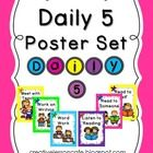 Freebie! Enjoy this colorful Daily 5 poster set to brighten up your classroom bulletin boards! It coordinates with the CAFE menu set available at my shop.