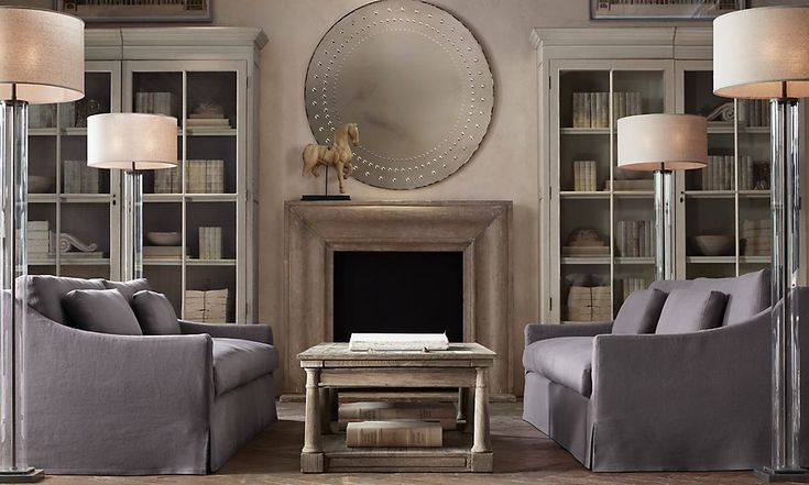 Rooms Restoration Hardware Salas Pinterest Fireplaces Furniture And Lobby Lounge