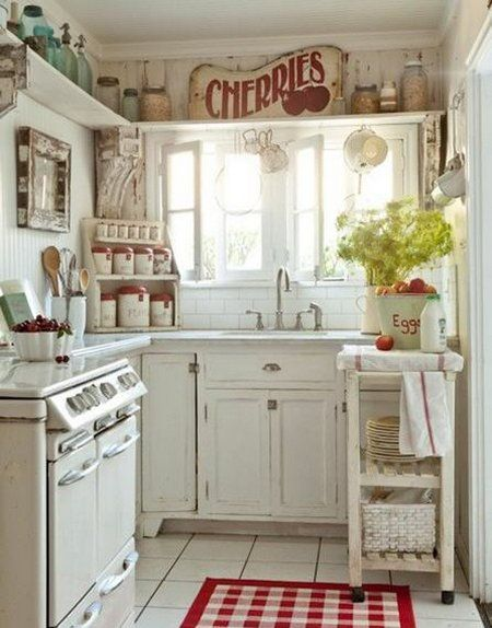 VINTAGE LOOK OF YOUR WHITE KITCHEN... http://www.freshinterior.me/vintage-look-of-your-white-kitchen/#more-2409