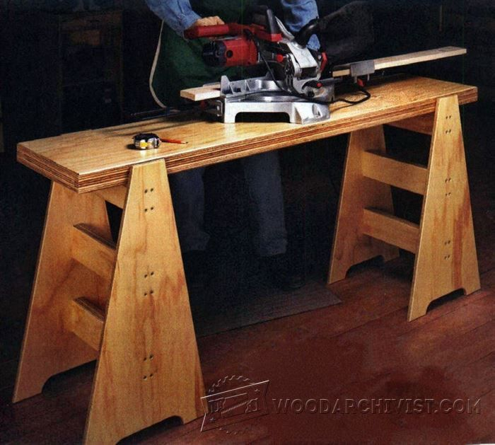 367 Best Images About WW-Workbenches, Sawhorses, Carts