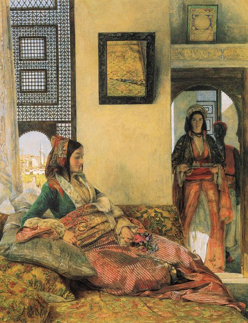 Life in the Harem- Mamluk- Ottoman Cairo  Painted by the Orientalist artist John Fredrick Lewis… in the 19th century during the Mamluk period  johnfredricklewis
