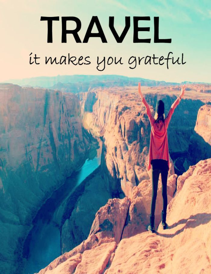 Image result for travel quotes and be grateful