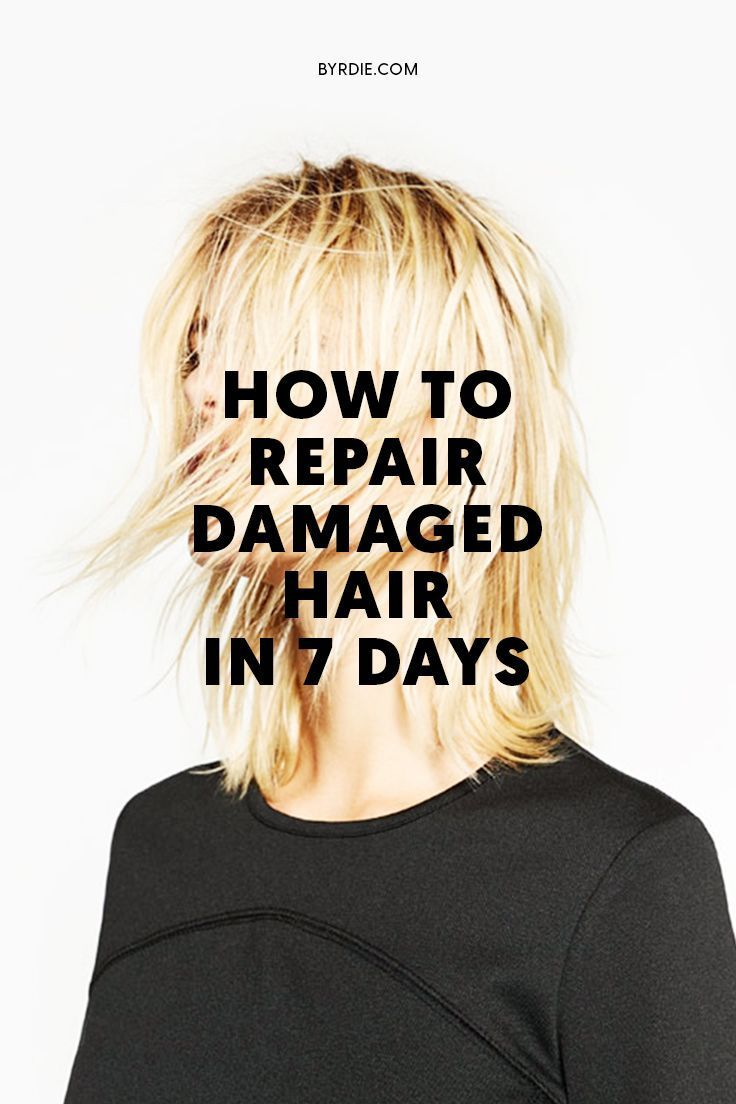 How To Fix Dry Damaged Hair In A Week Or Less Damaged Hair
