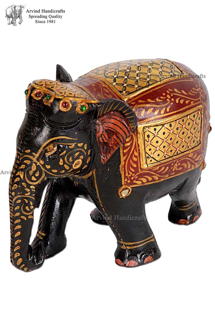 Designer Elephant Home Decor Elephant Home Decor Elephant Figurines Wooden Elephant