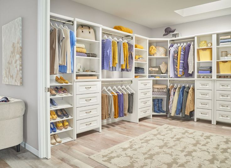 Our new impressions white finish can give your master for How to design a master bedroom closet