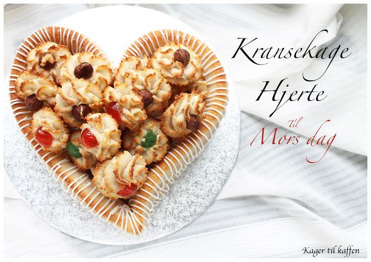 Kransekage hjerte from the Kager til Kaffen blog (recipe in Danish)