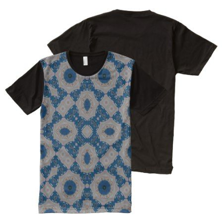 Abstract Pattern blue All-Over-Print T-Shirt - tap to personalize and get yours