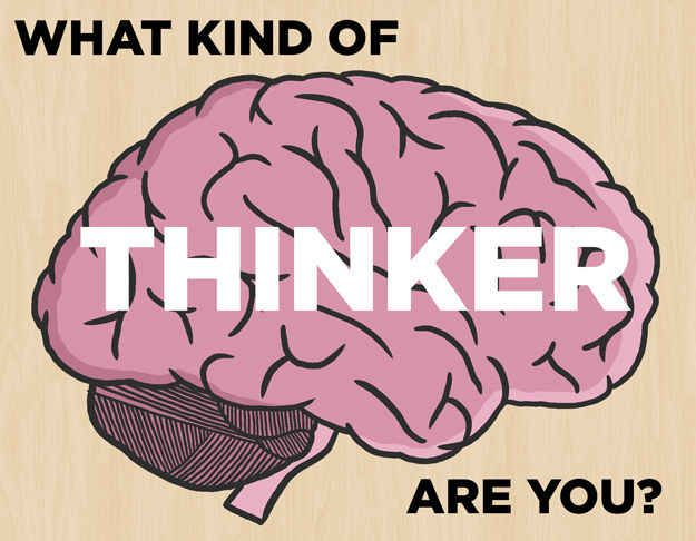 What Kind Of Thinker Are You? Watch the video at the end of the quiz. I got wandering mind!