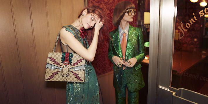Gucci Модели: Полина Оганичева, Пейтон Найт, Элизабет Мур, Николь Атьено и другие Фотограф: Глен Лачфорд