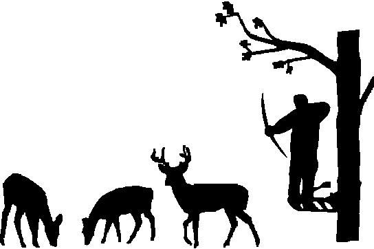 Bow Hunter Silhouette Prints | Information How to Apply a Decal VINYL SPECS FONT CHART PRIVACY FAQ's