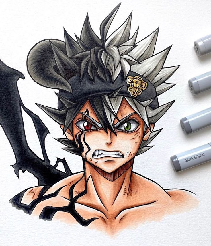 Amazing fanart of black asta what do you think of it