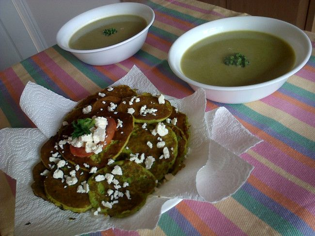 Wild Garlic and Nettle Soup with forage fritters