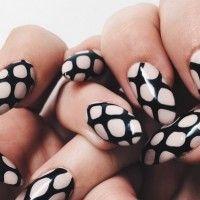 Trendy Fishnet Nail Design
