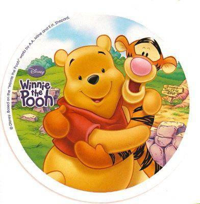 disco cialda per decorazioni torta festa a tema winnie the pooh 02 - Party e Balloon - Addobbi Feste per Bambini - Matrimoni - Lanterne Speciali