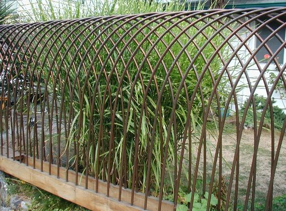 Copper tube fence