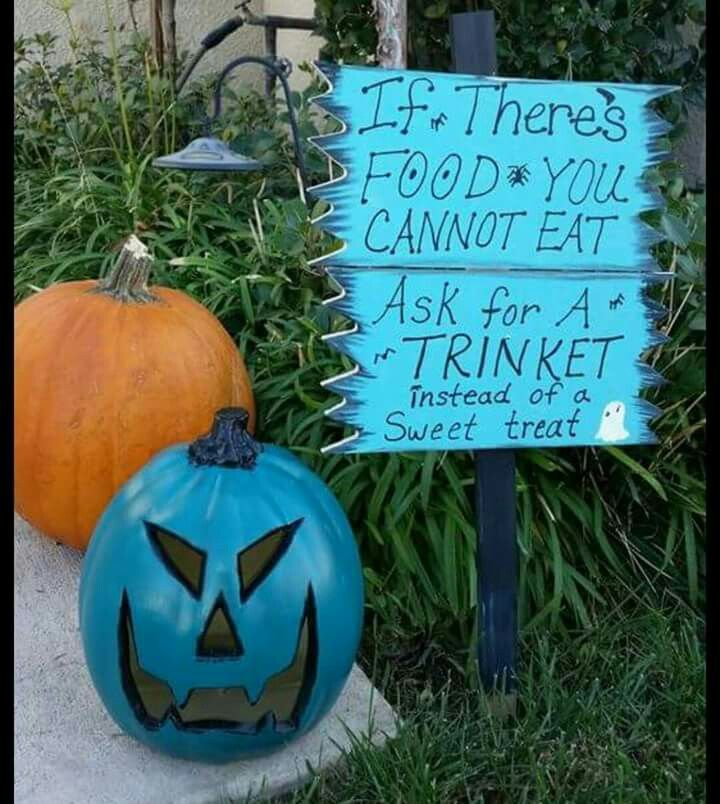 Teal pumpkin project sign