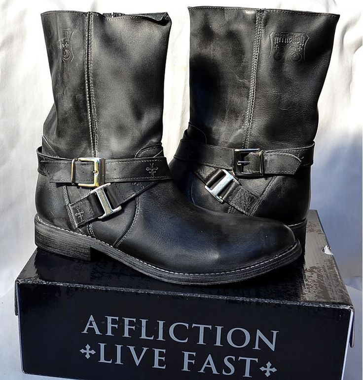 Affliction Men's TORO Pullup Motorcycle Boots SO EXPENSIVE!