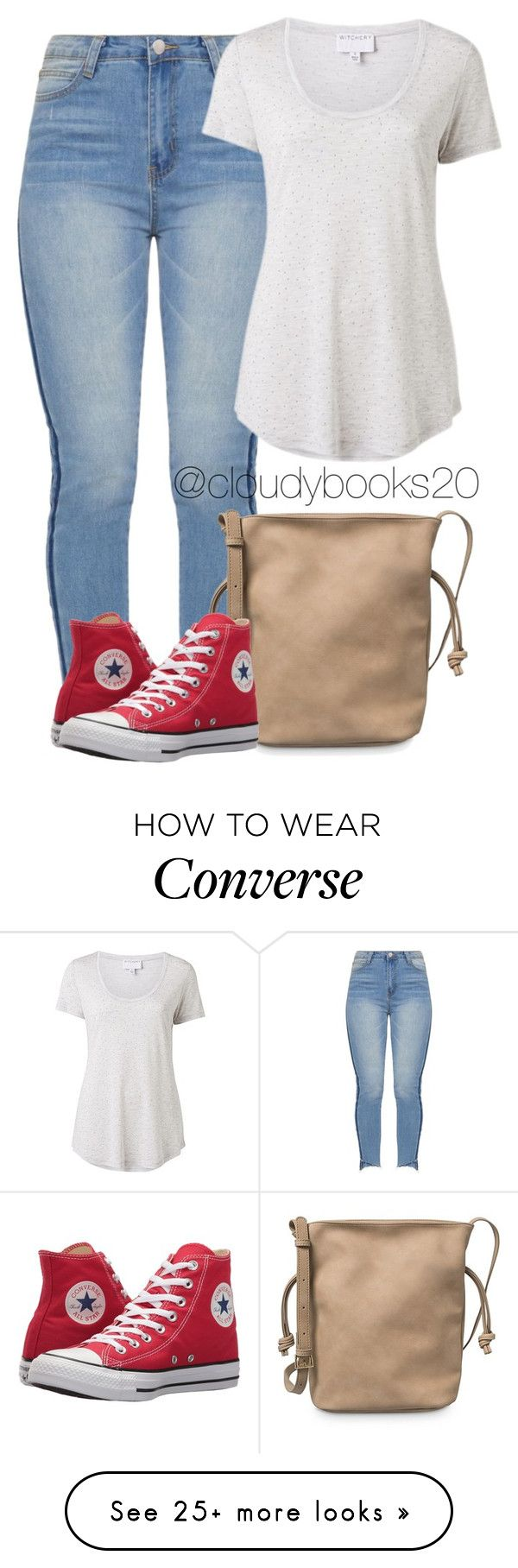 """A Casual Time"" by cloudybooks on Polyvore featuring Witchery and Converse"