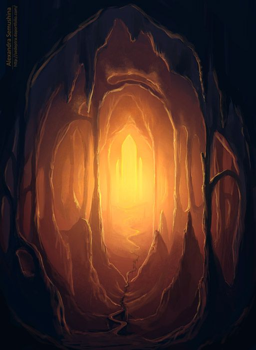 Kind of draws you in. The cave symbolises our inner sanctuary and I imagine there to be infinite warmth, peace love within! x