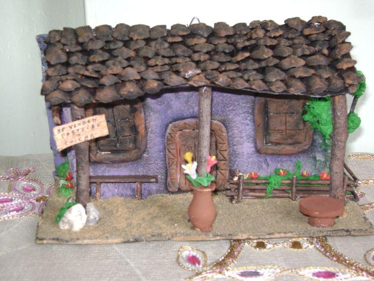 Casa colonial en fachada tejas pinterest - Tejas pequenas decoradas ...