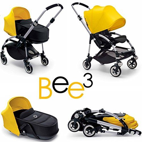 Amazon.com : Bugaboo Bee3 and Bassinet Yellow/Black Travel System : Baby