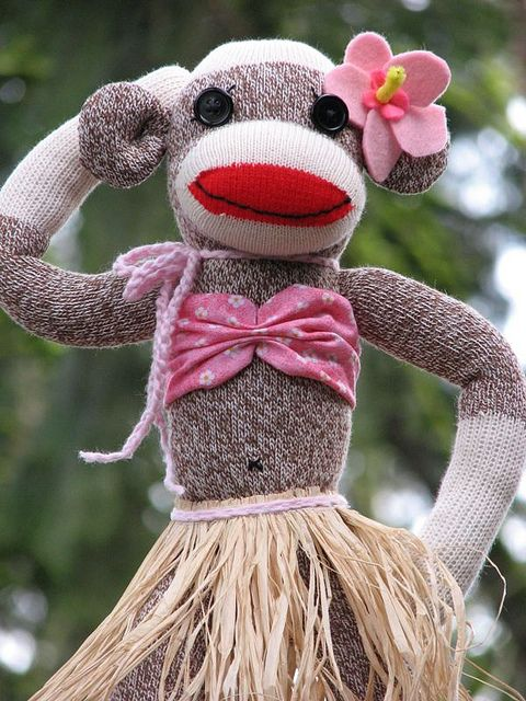 Hawaiian Sock Monkey Girl!