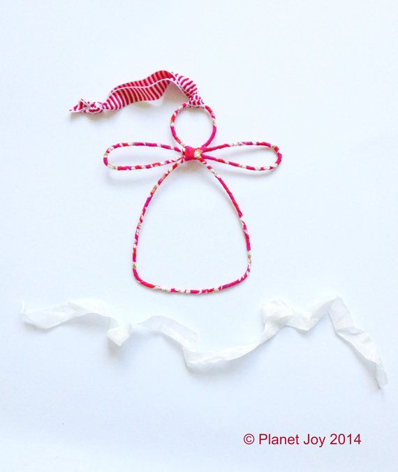 Wire angel wrapped in Liberty of London fabric by PlanetJoy