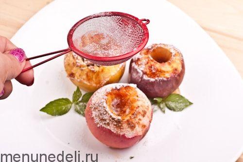 Рецепт запеченных яблок с медом и корицей / Меню недели