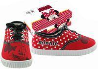 Nové - Červené tenisky s Minnie zn. Disney vel. 33