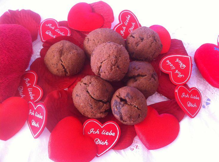 Bolachas Chocolate Picantes Dia dos Namorados | Aqui Há Gata Receitas